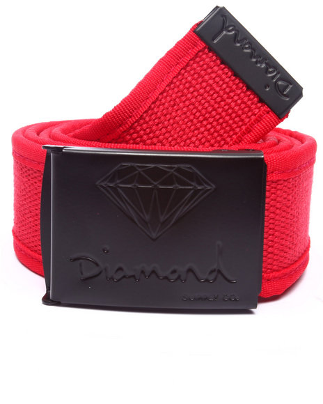 Diamond Supply Co Red Belts