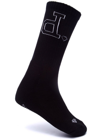 Diamond Supply Co Men Un-Polo High Cut Socks Black