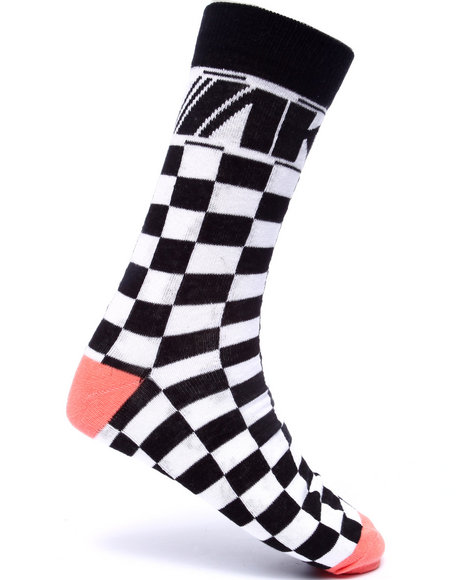 Akoo Men Finish Line Socks White