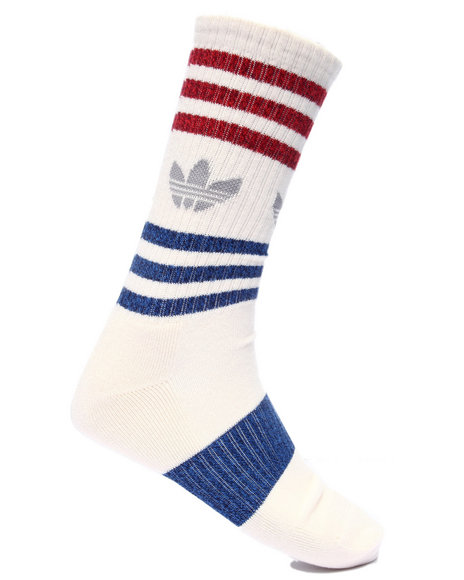 Adidas Men Originals Marl Heritage Crew Socks White