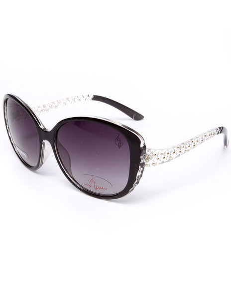 Baby Phat Women Beaded Temple Sunglasses Black