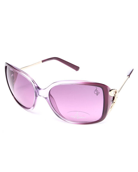 Baby Phat Women Oversized Butterfly Temple Sunglasses Purple