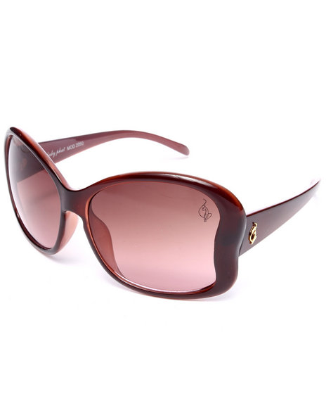 Baby Phat Women Curvacious Oversized Sunglasses Purple