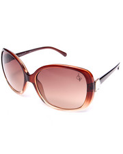 Women - Jeweled Side Gradient Oval Sized Sunglasses