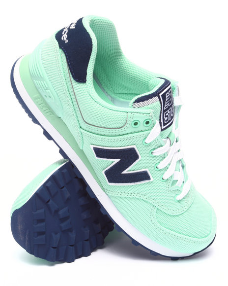 New Balance - Women Green 574 Pique Polo Collection Sneakers - $44.99