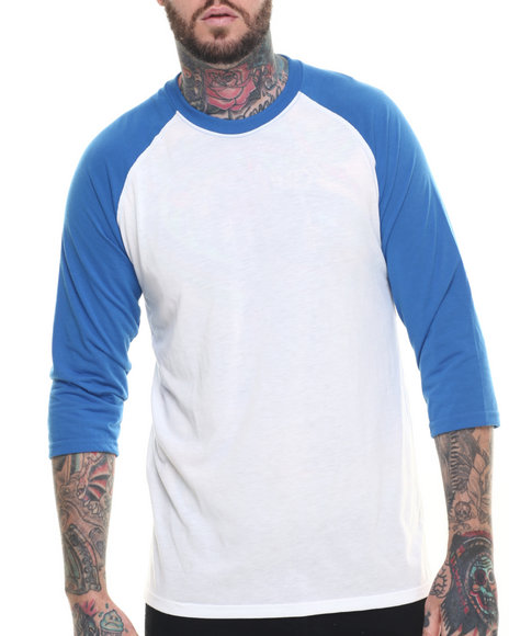 Ur-ID 218310 Adidas - Men Blue Adidas Ultimate Signature 3 / 4 Sleeve Raglan Tee