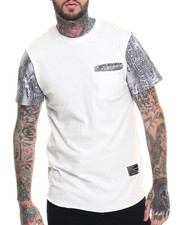 Men - Faux Print T-Shirt
