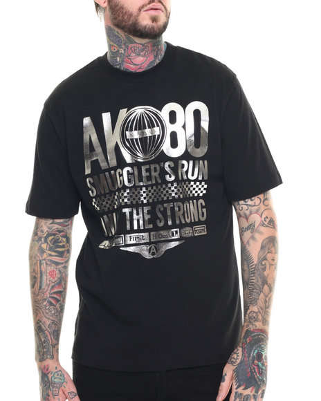 AKOO - Men Black Ak-80 Silver Tee
