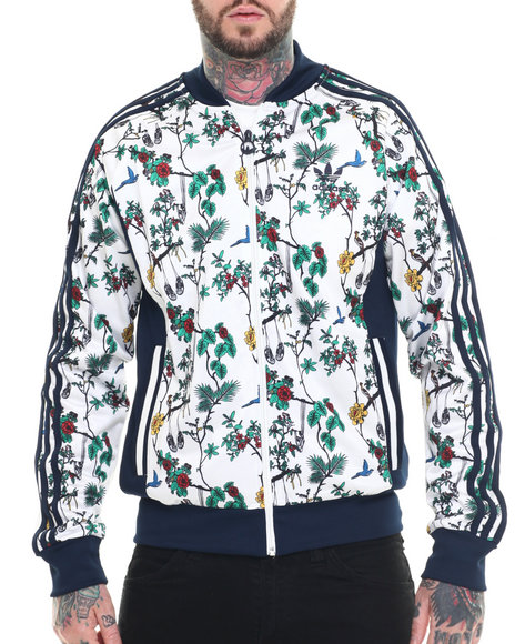 Adidas - Men Navy,White Island Superstar Track Jacket