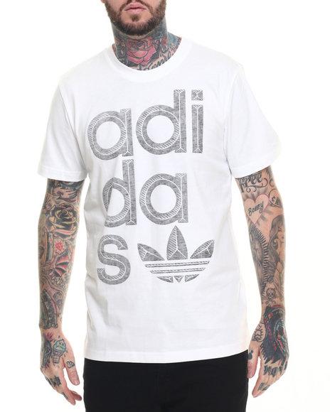 Ur-ID 218396 Adidas - Men White Reverse Print Wrap Logo S/S Tee