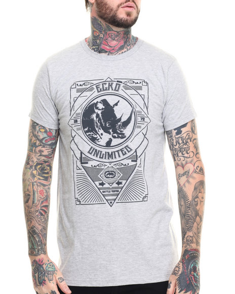 Ur-ID 218399 Ecko - Men Grey Crest T-Shirt