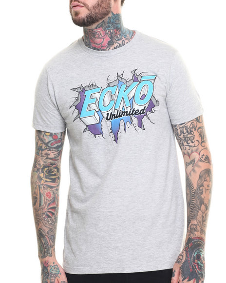 Ecko - Men Light Grey Break Through T-Shirt - $7.99