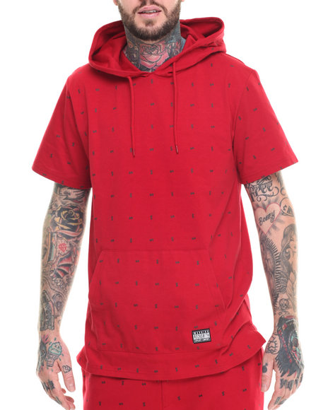 Ur-ID 218319 Rocksmith - Men Red Currency S/S Jersey Pullover