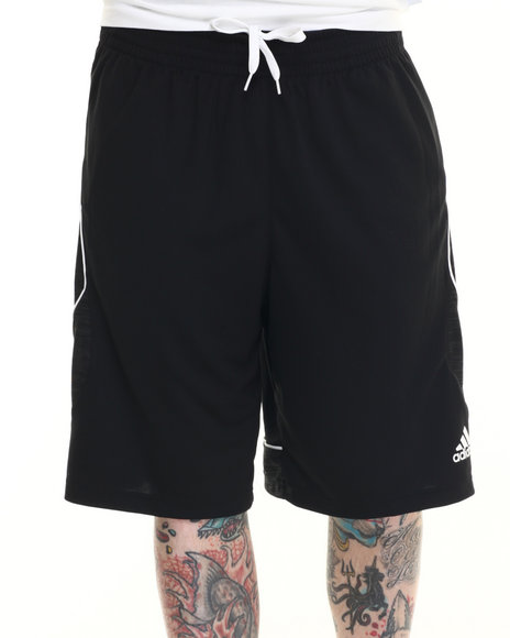 Adidas - Men Black Fast Break Heathered Shorts - $17.99
