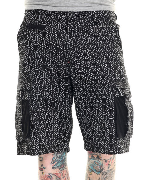 Ur-ID 218377 Ecko - Men Black Escher Print Cargo Short