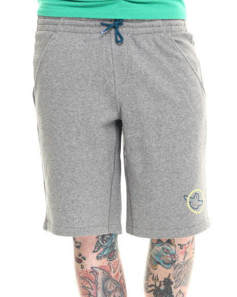 Adidas - Men Grey Gonz Shmoo Fleece Shorts - $21.99