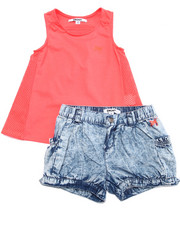 Sizes 4-6x - Kids - 2 PC SET - TUNIC & BUBBLE SHORTS (4-6X)