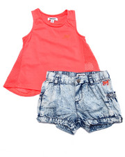 Girls - 2 PC SET - TUNIC & BUBBLE SHORTS (2T-4T)