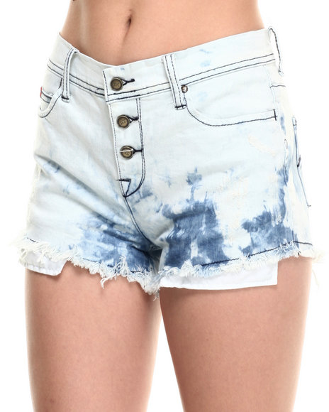 Lee Cooper - Women Light Wash Cotton Candy Jean Short