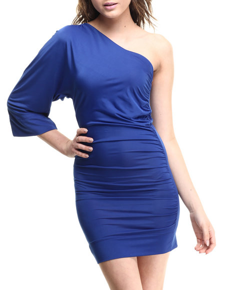 Fashion Lab - Women Blue One Shoulder Dress