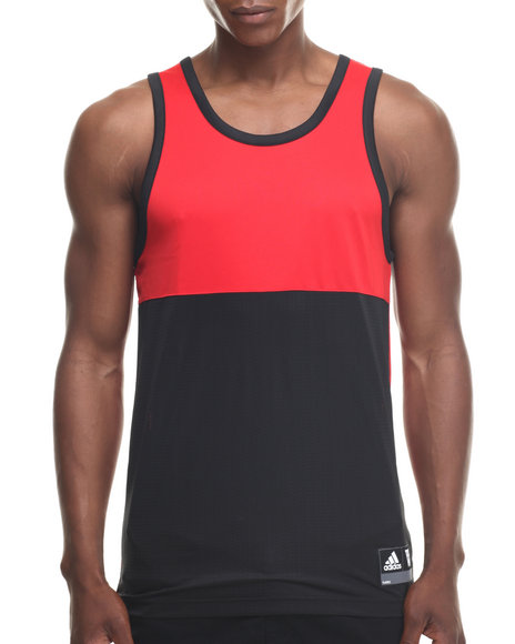 Ur-ID 218295 Adidas - Men Red Crazy Skills Mesh Tank