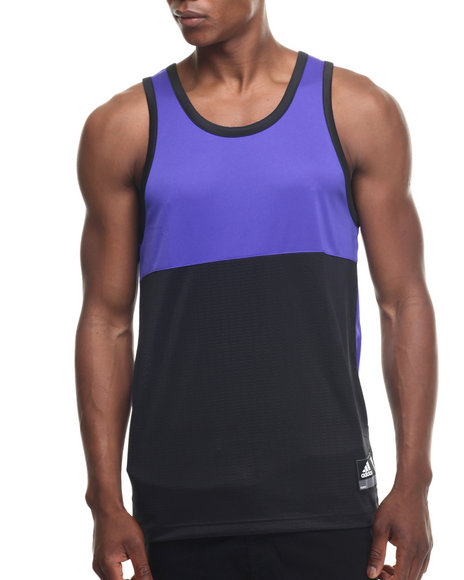 Ur-ID 218334 Adidas - Men Purple Crazy Skills Mesh Tank