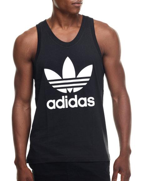 Ur-ID 218414 Adidas - Men Black Adidas Trefoil Tank