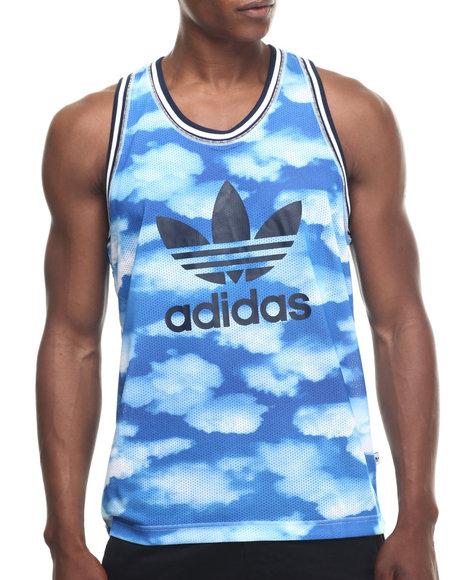 Ur-ID 218425 Adidas - Men Light Blue Cloud Photo Print Tank