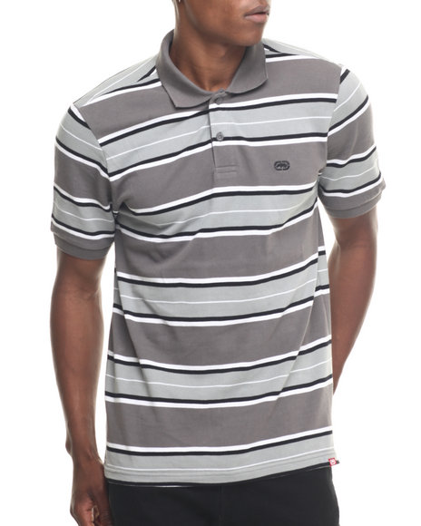 Ecko - Men Charcoal Striped Polo