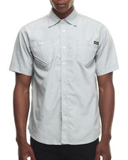Akademiks - Core Double pocket s/s button down shirt