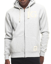 Men - K G Signature Zip - Up Hoodie