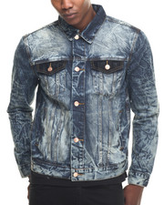 Denim Jackets - Crackle Denim Jacket