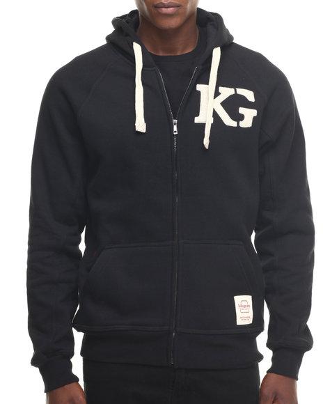 Ur-ID 218466 Kilogram - Men Black K G Signature Zip - Up Hoodie