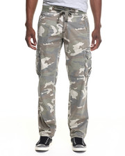 Men - Drawstring Camo Cargo Pants
