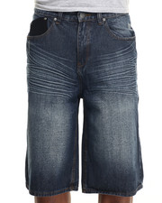 Enyce - Distressed Wash Denim Shorts