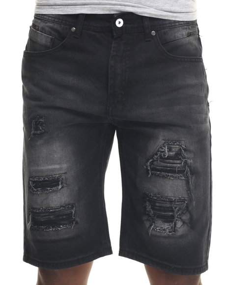 Parish - Men Black Wash Denim Shorts