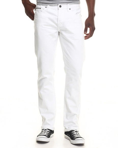 Mens White Denim Pants