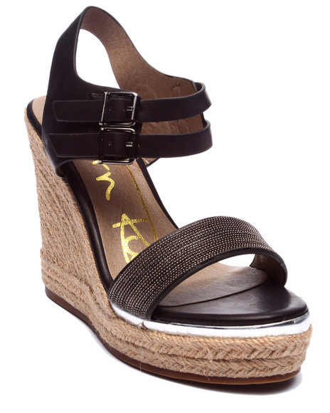 Fashion Lab - Women Black Andrea Basic Wedge Sandal