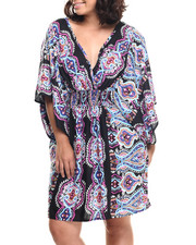 Women - Mosaic Print Challi Kimono Dress (Plus)