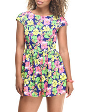 Jumpsuits - Royal Floral Romper