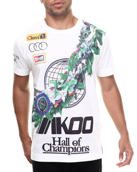 AKOO - Men White Winners Circle S/S Knit Tee