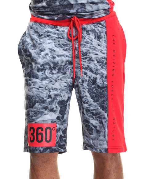 Hudson Nyc - Men Black,Grey,Red Wave 360 Drawstring Shorts