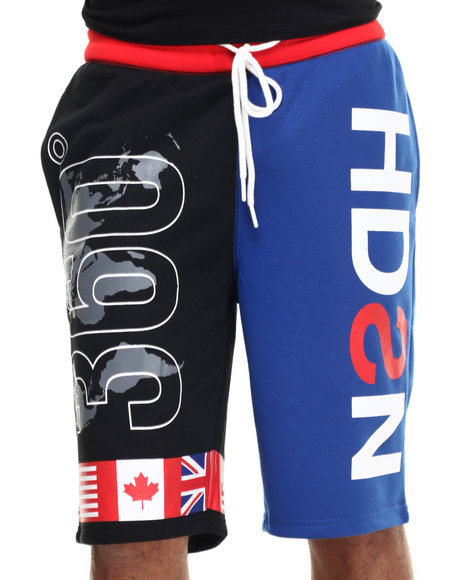 Hudson Nyc - Men Black H D S N 360 Drawstring Shorts - $65.00