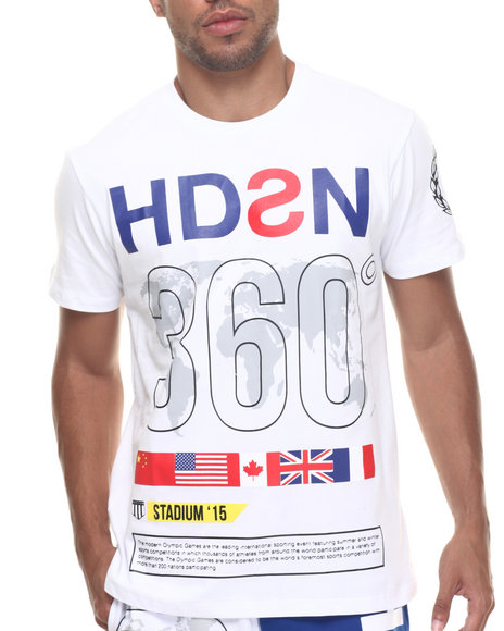 Hudson Nyc - Men White H D S N 360 S/S Tee