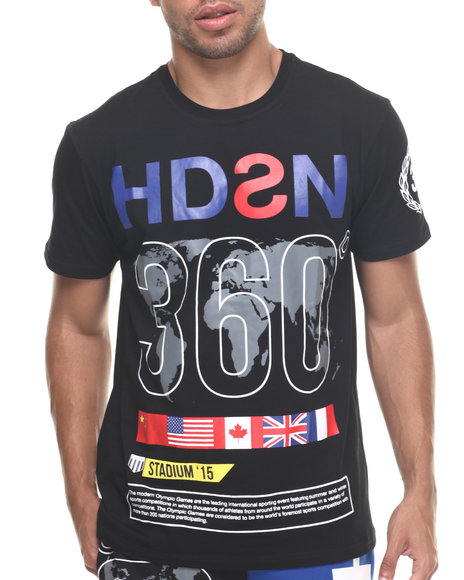 Hudson Nyc - Men Black H D S N 360 S/S Tee - $54.00