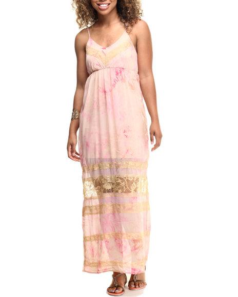 Fashion Lab Women Diana Chiffon Maxi Dress Pink X-Small