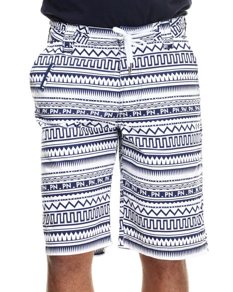 Parish - Men Navy Ethnic Print Short