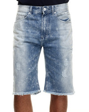 Parish - Bleach Wash Denim Shorts