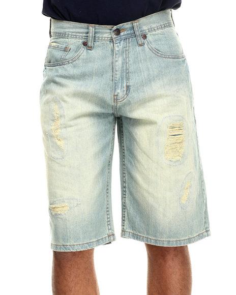Akademiks - Men Vintage Wash Kevin Denim Shorts - $18.99