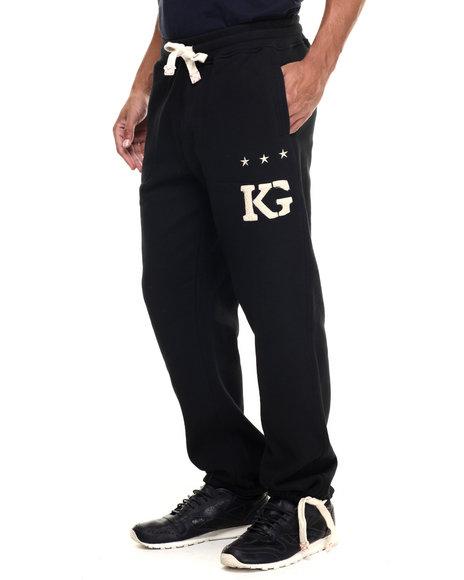 Kilogram - Men Black K G Signature Sweatpants